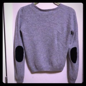 Alice + Olivia Grey Sweater with Elbow Pads